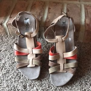 Women's mephisto strappy ankle sandals flat 41 11